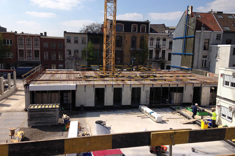 Ten Wyngaerde - Antwerpen - Lange Lozannestraat - Gevelschoring